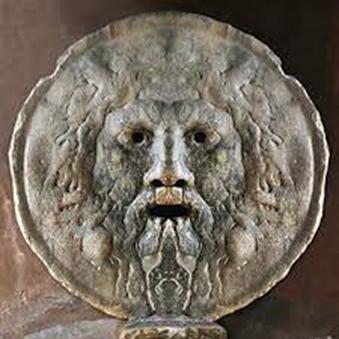 La Bocca della Verità è un antico mascherone in marmo pavonazzetto, murato nella parete del pronao della chiesa di Santa Maria in Cosmedin di Roma dal 1632. Il mascherone rappresenta un volto maschile barbuto; occhi, naso e bocca sono forati e cavi. Il volto è stato interpretato nel tempo come raffigurazione di vari soggetti: Giove Ammone, il dio Oceano, un oracolo o un fauno.
